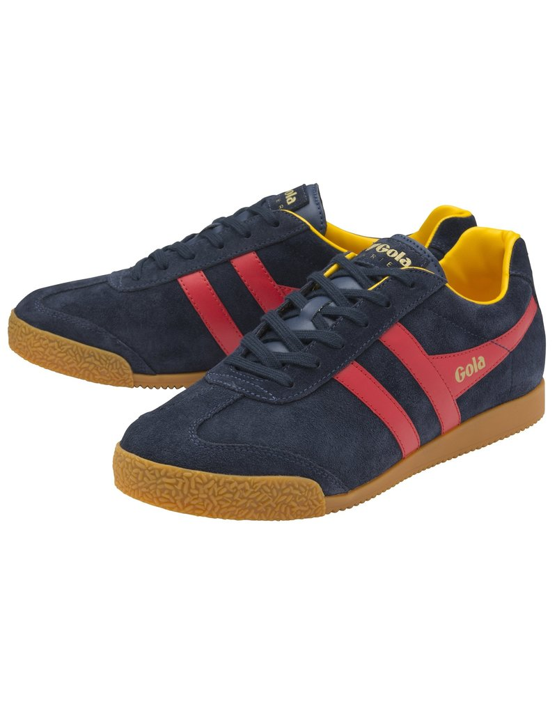 GOLA SHOES GOLA HARRIER SUEDE  NAVY RED SUN