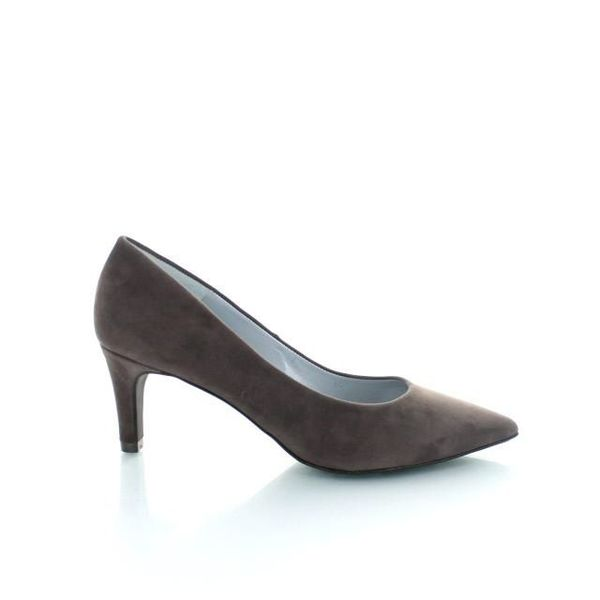 Ancona Ancona, Suede Pumps Donker Taupe