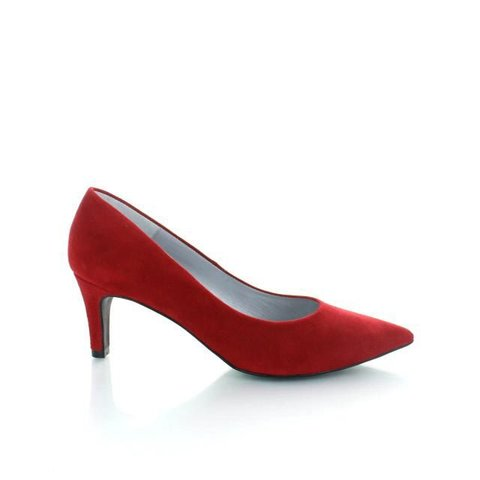 Ancona, Suede Pumps Rood