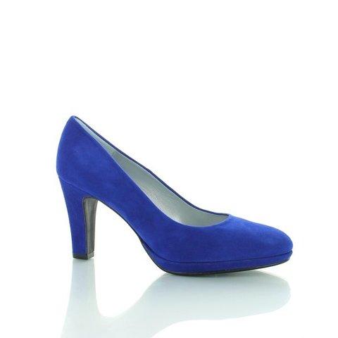 Basispump Capri, Suede Pumps Royal Blue