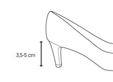 Middelhoge hak (3,5 - 5 cm)