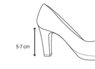 Middelhoge hak (5 - 7 cm)
