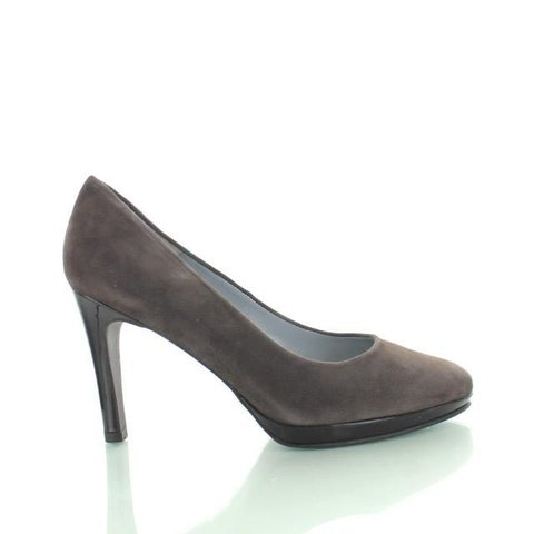 Sebastian, Suede Pumps Donker Taupe
