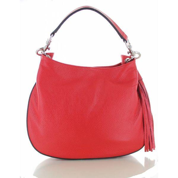 Sofia, rood leren,  kwalitatieve,  stijlvolle handtas
