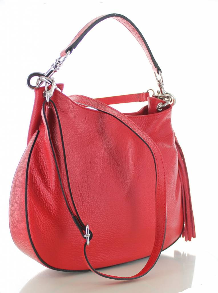 c5396e83806 Sofia, rode leren stijlvolle handtas | Colori Shoes & Accessories