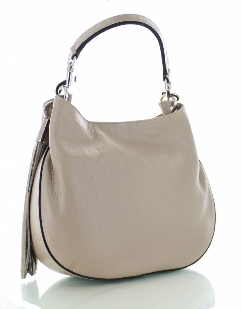 c9b57458f2a Sofia, leren zandkleurige stijlvolle tas | Colori Shoes & Accessories
