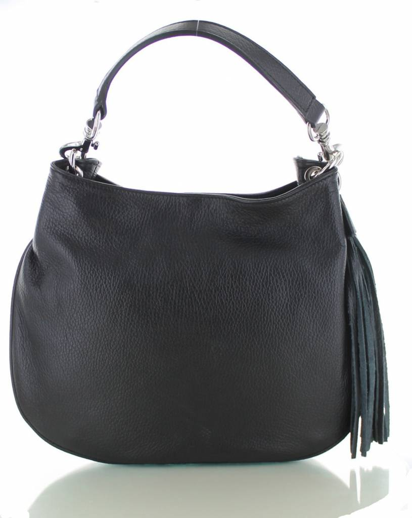 1b82aba6865 Sofia, zwarte leren stijlvolle handtas | Colori Shoes & Accessories