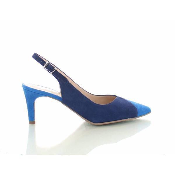 Colori Mirano, Suede Slingback Pumps Blauw