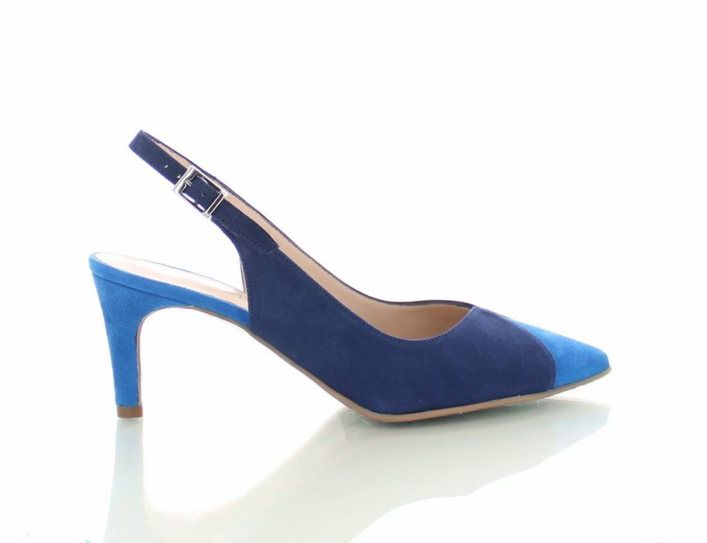 Licht Blauwe Pumps : Mirano suede slingback pumps blauw colori shoes accessories