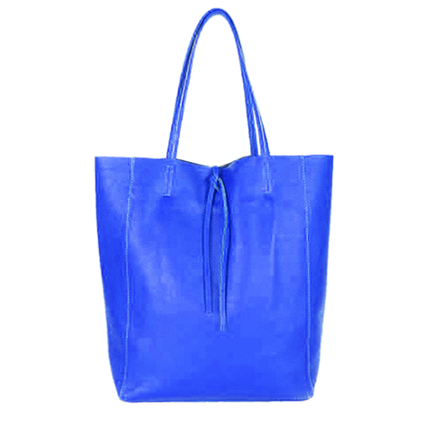 Arlene, Shopper leder Royal Blue