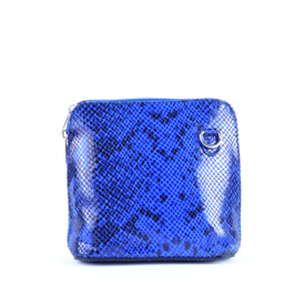 Colori Elvia, tasje Leder Snake Royal Blue