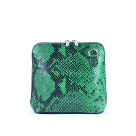 Colori Elvia, tasje Leder Snake Groen
