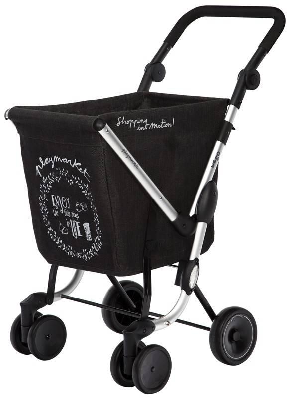 Playmarket Boodschappentrolley We Go Donker-Grijs Eco