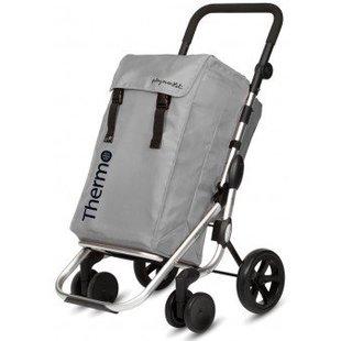Boodschappentrolley Go Plus Zilver