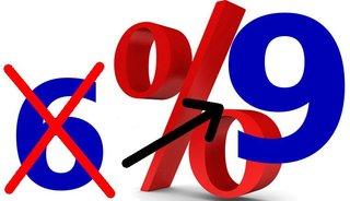 BTW-tarief per 1-1-2019 verhoogd van 6% naar 9%