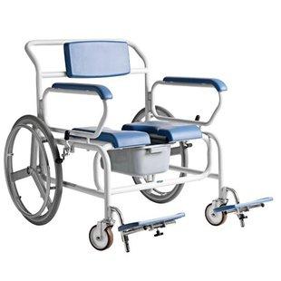 XXL douche/toilet rolstoel