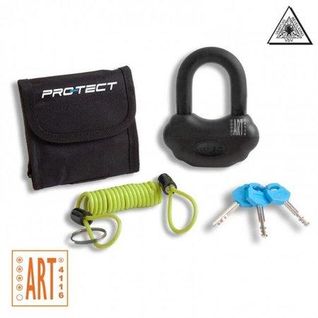 Pro-tect Schijfremslot Topaz ART-4 zwart van Pro-tect met reminderkabel en tas
