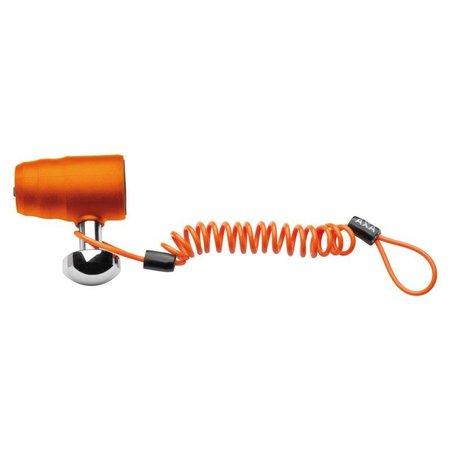AXA Problock ART-4 schijfremslot oranje met reminderkabel en tas