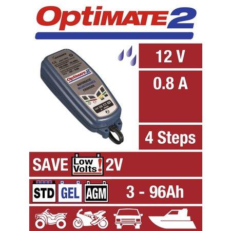 Tecmate Optimate 2 - volledig automatische acculader-onderhoudslader