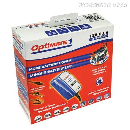 Tecmate Optimate 1 - slim onderhoud en volledig automatische 12V acculader