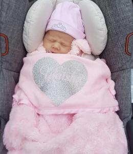Glitz4kids Prachtige baby deken met naam