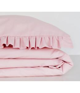 Glitz4kids Ruffle poeder roze dekbedovertrek