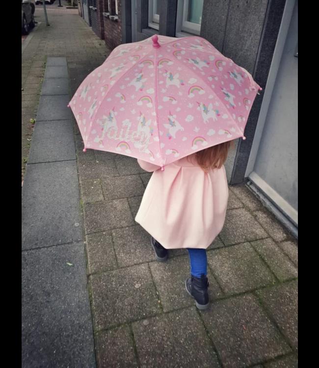 Glitz4kids Unicorn paraplu met naam