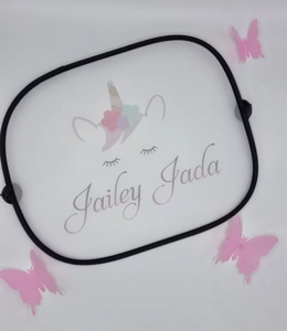 Glitz4kids Unicorn awning with name