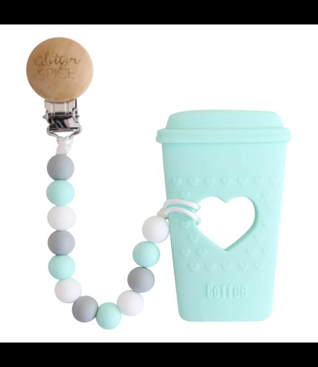 Glitz4kids Coffee cup bijtring met clip