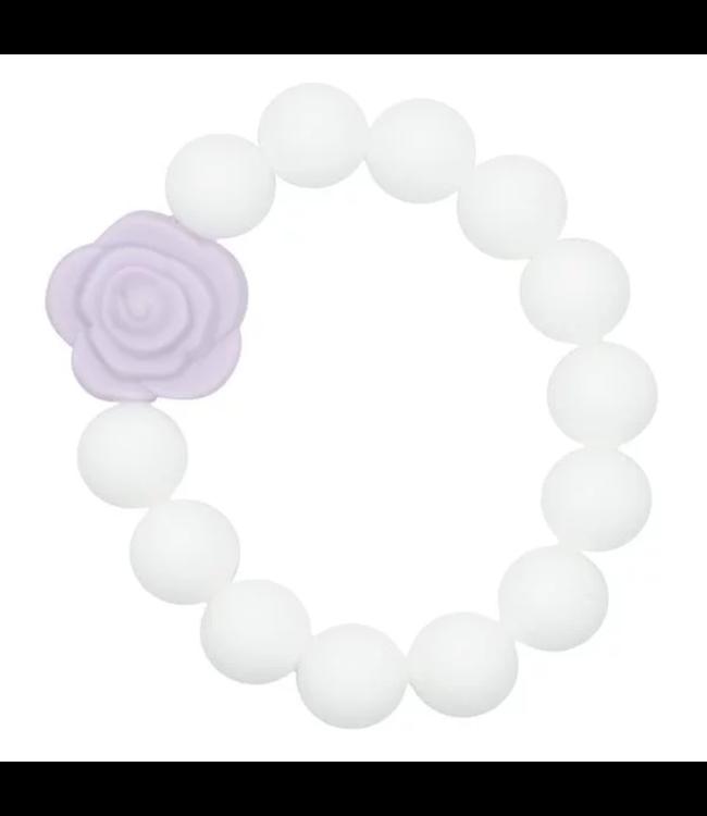 Glitz4kids Bijt armband rosette purple
