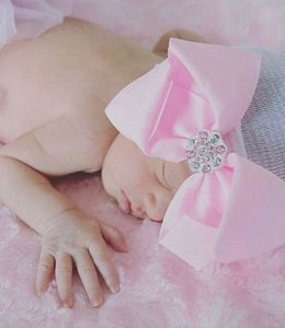Glitz4kids Geboorte mutsje met strass