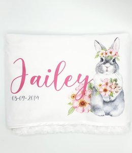 Glitz4kids Flower bunny blanket