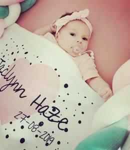 Glitz4kids Babydeken met naam | Blush heart