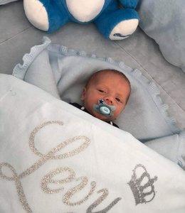 Glitz4kids Babydeken met naam | Kroon