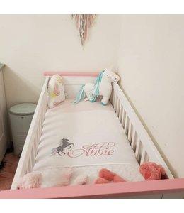 Glitz4kids Babydeken met naam | Unicorn