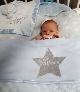 Glitz4kids Babydeken met naam | Naam in ster