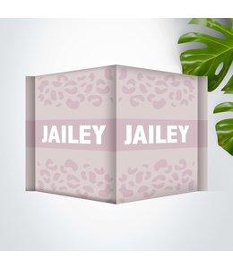 Glitz4kids Geboorte raambord | Panter roze met wit