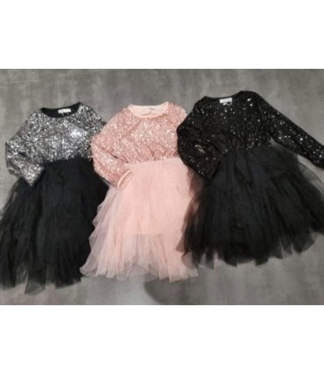 Glitter tule jurk