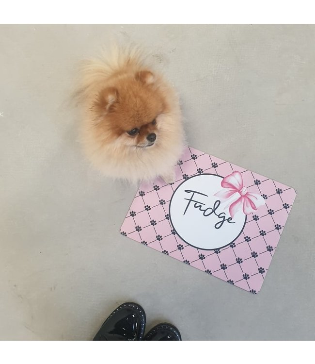 glitz4kids Honden placemat met naam |Lovely bow