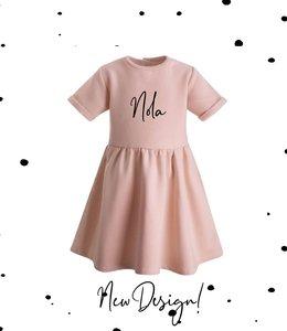 Glitz4kids Roze jurk | Met naam