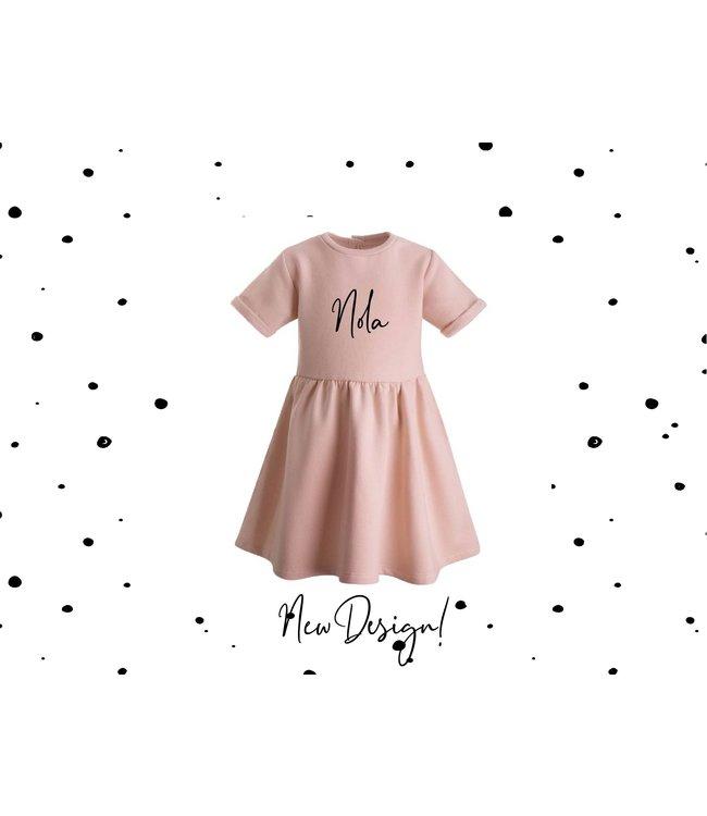 Glitz4kids Roze jurk   Met naam