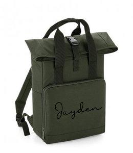 glitz4kids Roll up backpack | Olijf groen