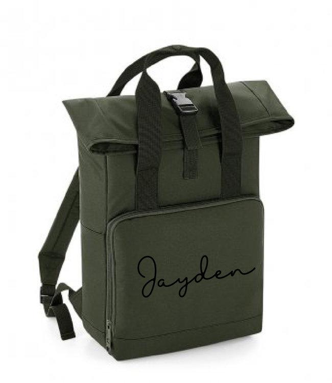glitz4kids Roll up backpack   Olijf groen