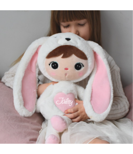 Metoo bunny heart wit met roze