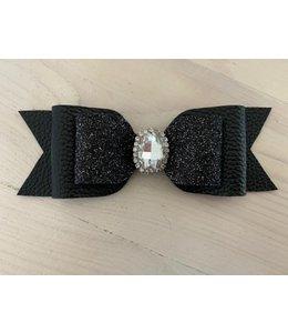 XL haarstrik limited edition| Black basic glitter