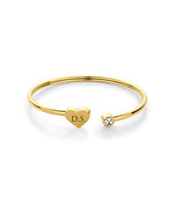 Armband heart | Goud