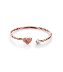 Armband heart | Rose
