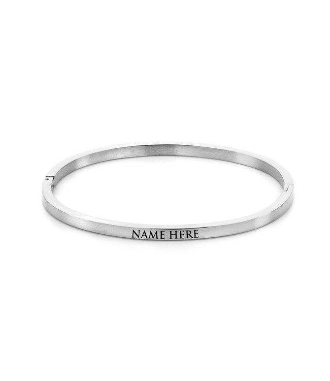Ducett Name bangle| silver