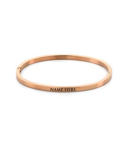 Name bangle| rosé gold