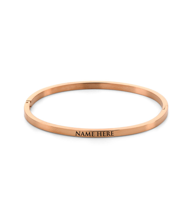 Ducett Name bangle| rosé gold